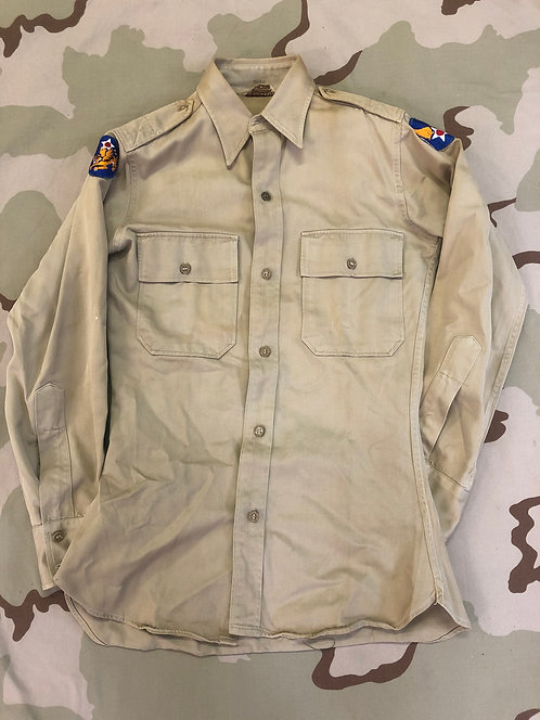 WW2 Khaki Cotton Fatigue Field Shirt - Army Air Corps