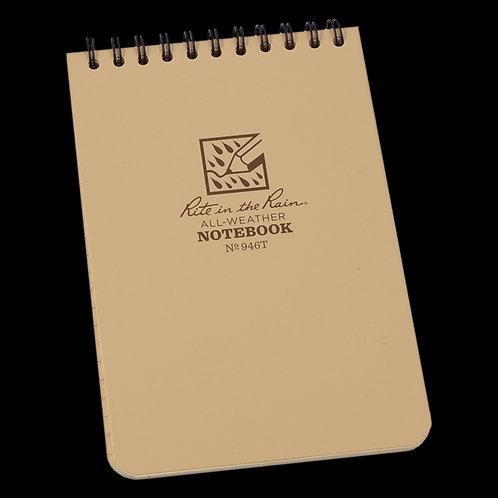 "946T Rite in the Rain Waterproof Tan 4""x 6"" Notebook"