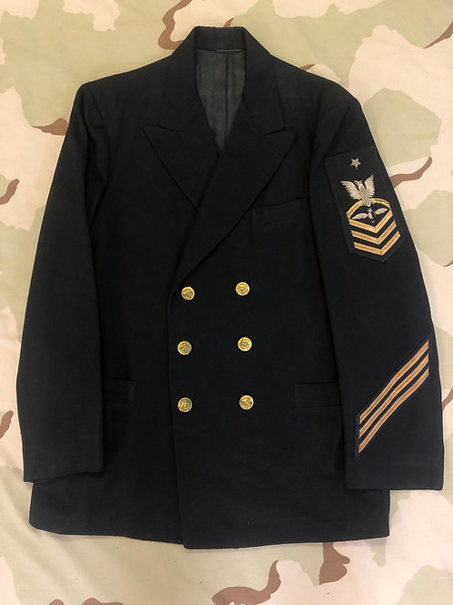 US Navy Dress Blue Double Breasted Coat and Trousers