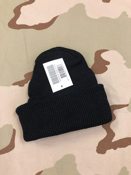 Black 100% Wool Military Watch Cap