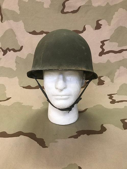 M-51 French Army Steel Pot Helmet w/ Liner