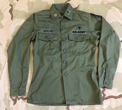 US Army Vietnam OG-507 Utility Shirt - Officer Medic