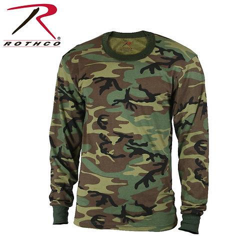 Rothco Long Sleeve Woodland Camo T-Shirt