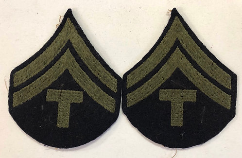 US Army WW2 Technician 5th Grade Navy Wool Ranks - Pair