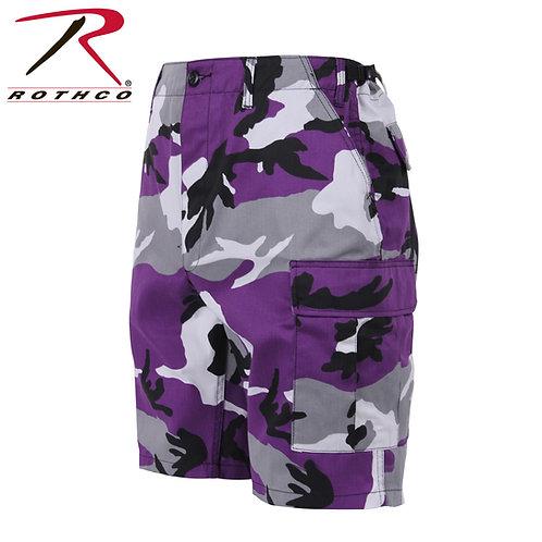 Rothco Ultra Violet Purple Camo BDU Shorts