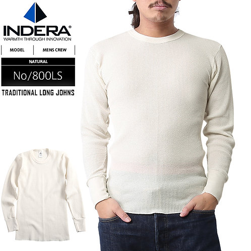 Indera Mills Traditional Long Sleeve White Long Johns 800LS