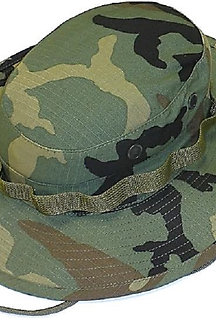 R&B Military Wide Brim Woodland Camo Boonie Hat
