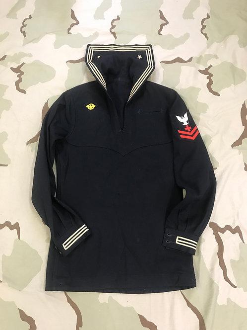 WW2 Navy Wool Cracker Jack Dress Jumper