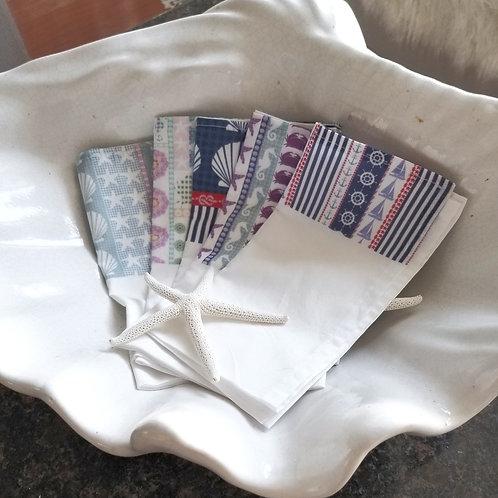 Boho Beach Cotton Napkins Set/4