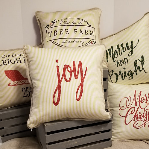 Christmas Reversible Pillow Covers