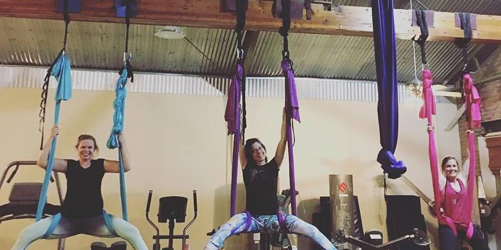 Saturday Aerial Yoga!