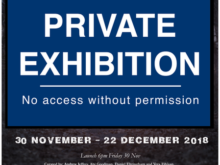 Trespass! Sheffield Institute of Arts Gallery,                                         November 30th