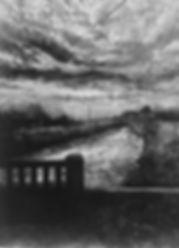 Judith Tucker Outfalls 3  charcoal, varn