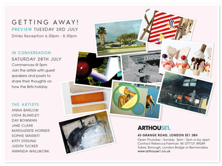 Getting Away ArtHouse1, Bermondsey, London and Quay Arts, Isle of Wight  July - October 2018