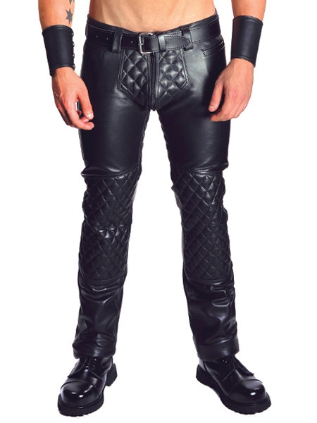 Mister B Leather Jeans Padded