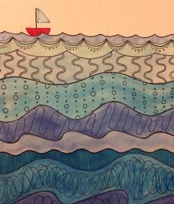 Ocean Zentangle