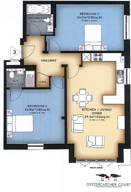 Floorplan with correct parking space _ed
