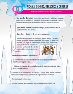 Ficha género: derechos y deberes