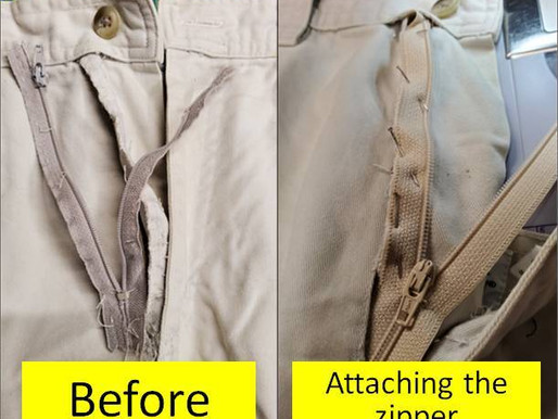 Zipper Replacement in pants