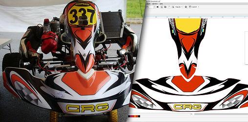 Karting stickers