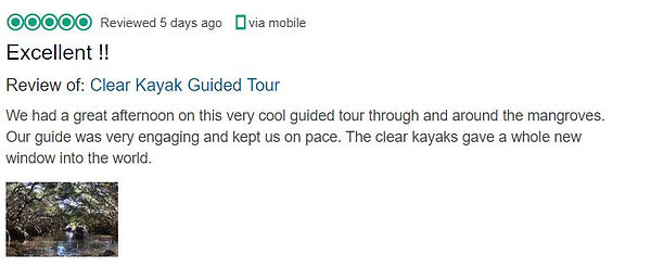 Clear Kayak Shell Key TripAdvisor Review.JPG