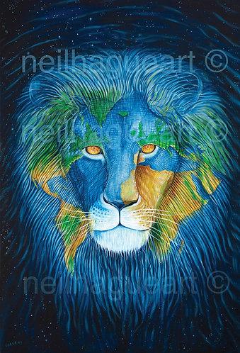 Earth Lion Canvas Print