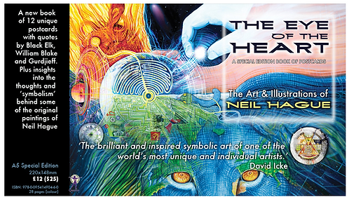 Eye of the Heart – Book of Art Postcards (signed by Neil)