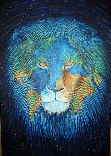 Earth Lion Consciousness Giclée Print (small)