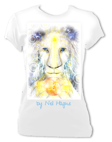 White Lion T-Shirt (White Women's Fitted)