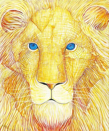 Golden Lion Consciousness Giclée Print (Original Canvas Size)