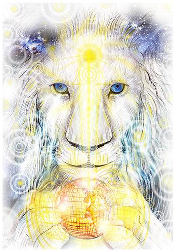White Lion Consciousness - Giclée Print (small)