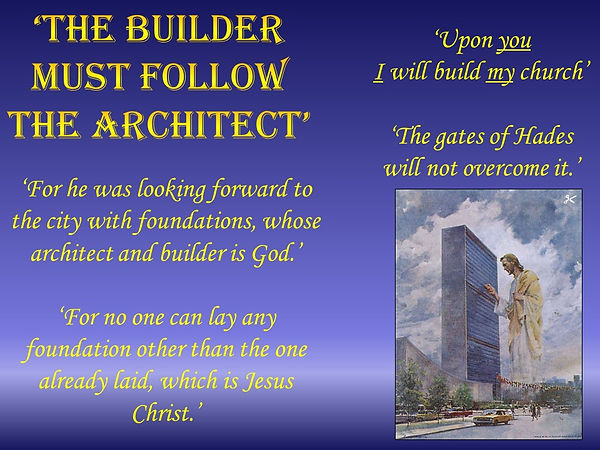 37 - The builder must follow the archite