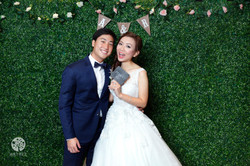 Photo booth grass backdrop