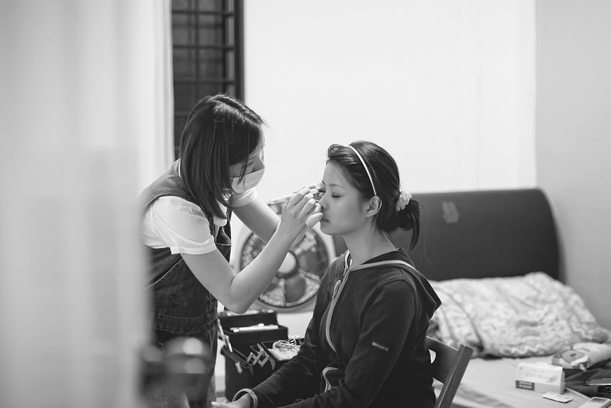 Singapore Wedding Photography, wedding day, bride getting ready