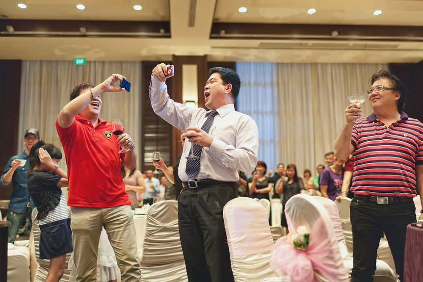 Singapore Wedding Photography, wedding day, toasting