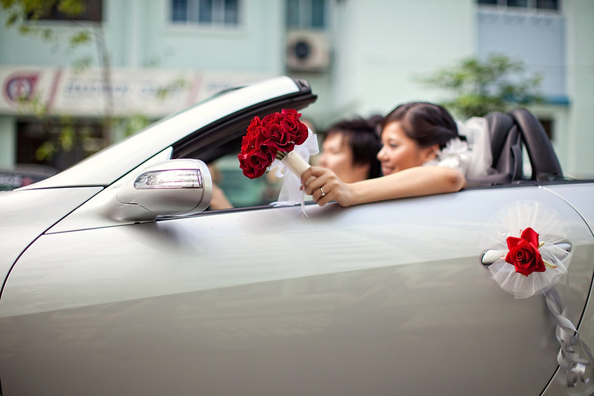 Singapore Wedding Photography, wedding day, wedding car