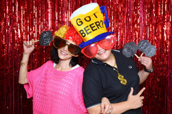 Photo Booth tinsel backdrop