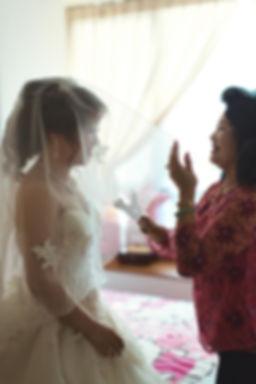 Singapore Wedding Photography, wedding day, veiling the bride