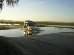 frazer island water crossing