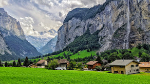 Lauterbrunnen, Valley of 72 Waterfalls