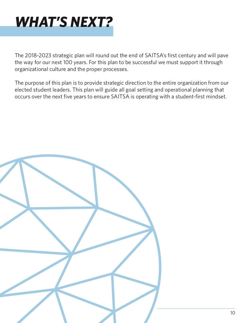SAITSA Strat Plan 2018 - What's Next