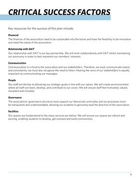 SAITSA Strat Plan 2018 - Critical Success Factors