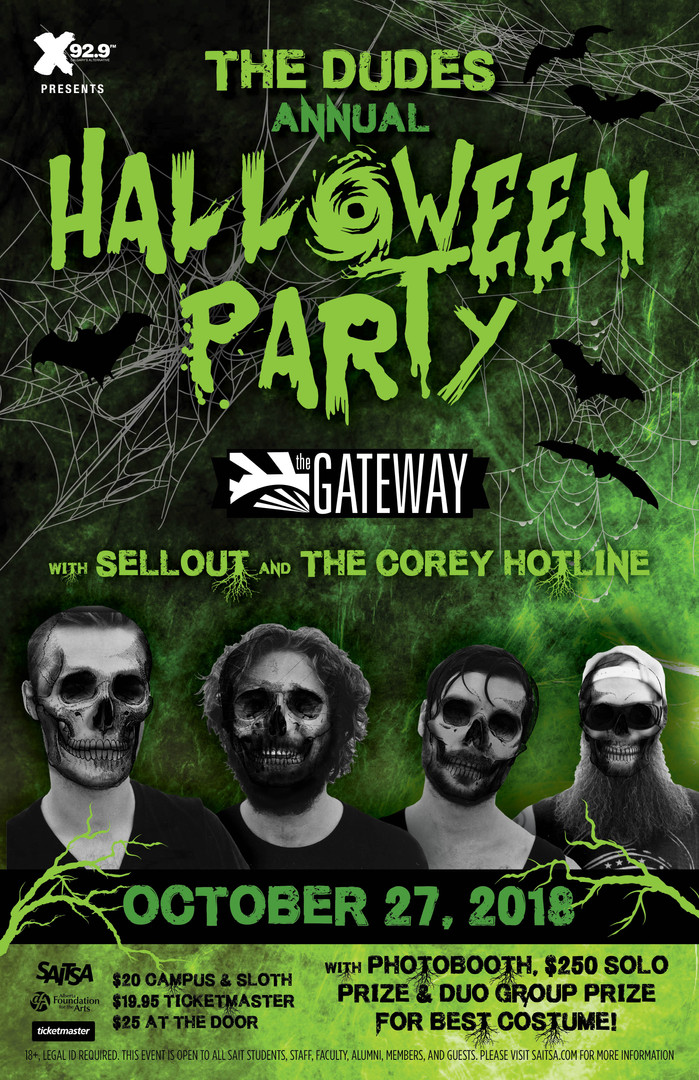 The Dudes annual Halloween Party @ The Gateway