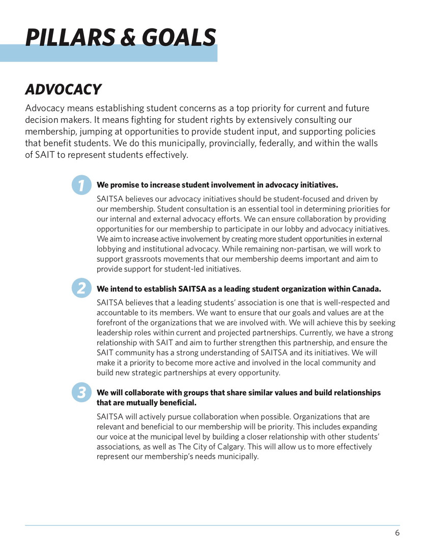 SAITSA Strat Plan 2018 - Pillars & Goals
