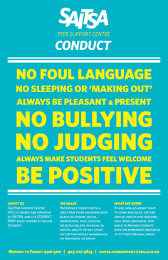 Peer Support Centre Conduct Rules