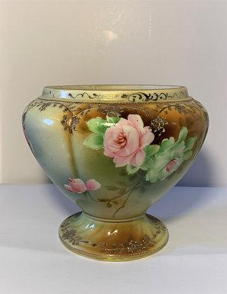 Cache pot en porcelaine peint à la main