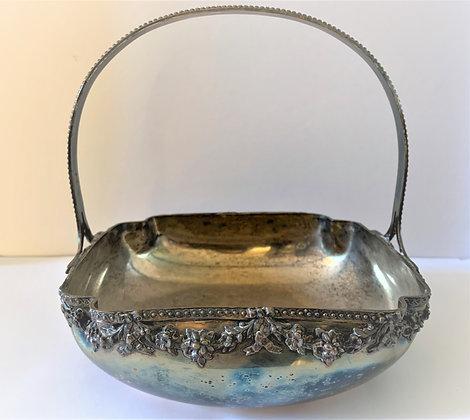Coupe à fruits en métal argenté