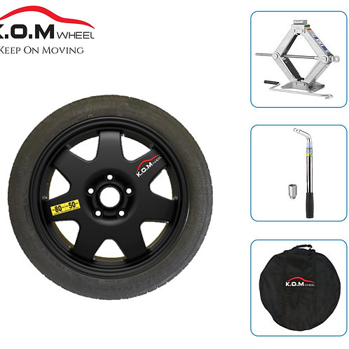 "17"" PEUGEOT 208 2012 > 2019 K.O.M SPACE SAVER SPARE WHEEL & TYRE KIT"
