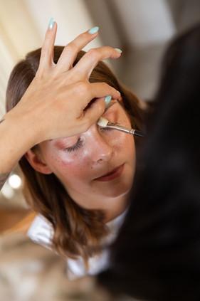 Ausarbeitung des Augen Make-Ups