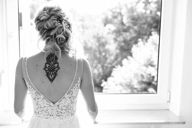 Brautfrisur mit Headpieces